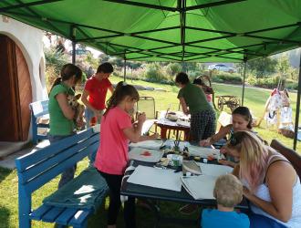 Workshop pro děti a maminky MALOVÁNÍ PRÁZDNINOVÉHO BATŮŽKU